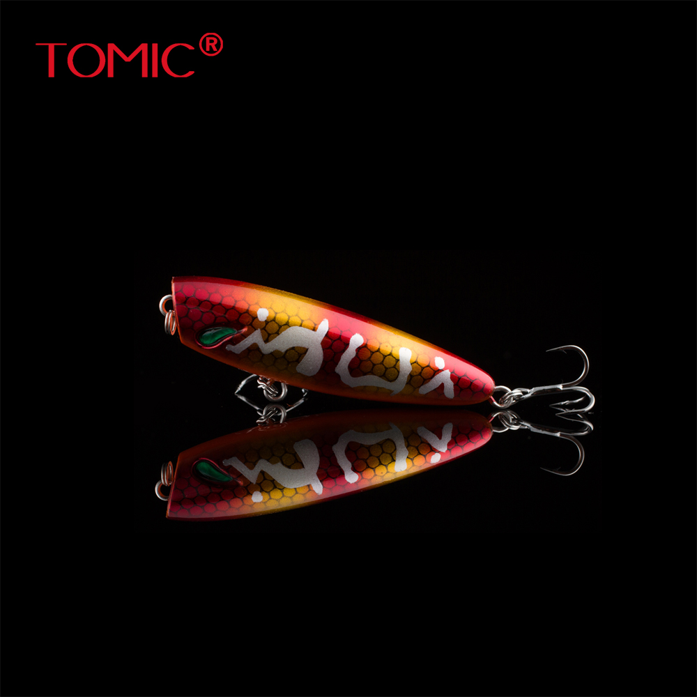 Tomic 5cm Fishing Hard Plastic Lures Popper Topwater Bait Floating Pesca