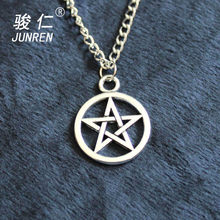 Alliage déclaration pendentif collier Pentacle brandy Supernature film collection métal unisexe pentagramme colares femininos bijoux(China)