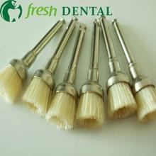 1000 PCS dental Latch style flat bowl brush polishing White bristle brush Dentist Prophylaxis White bristle brush SL-PB380