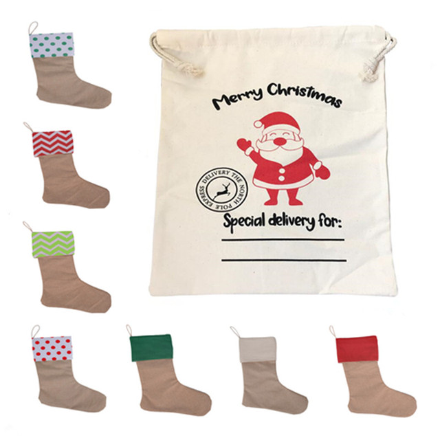 91d3625c8 New Year Gift 2019 Santa Sack Stocking Christmas Santa Claus Bag  Personalized Xmas Stockings Drawstring Large