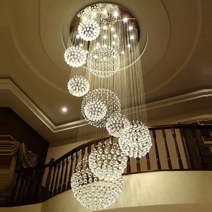 Image 4 - Long crystal chandelier lighting lustres lampadari modern stage chandelier LED light, clear crystal lighting fixtures