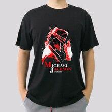 Unisex Tee Shirt Michael Jackson White Black Customized Short Sleeves T Shirts Summer Fashion Men Casual Cotton O Neck T Shirt