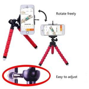 Image 3 - ミニ三脚電話クリップで柔軟なスポンジタコ三脚bluetoothリモートシャッターポケット三脚携帯iphoneなど