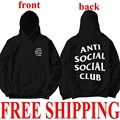 3 Colors Fashion Casual Loose Club Hoodie Anti Social Social Club Hooded Kanye Sweatshirts Clothes Men's Women's Hoodie Mujer