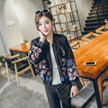 2016 Autumn New Arrival Women Fashion Embroidery Long-Sleeves Short Jackets, Female Flower Pattern Plus Size Casual Coats