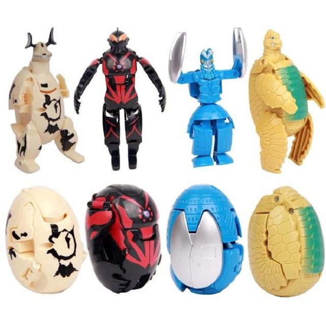 4 Piece Set Deformed Egg Ultraman Transformation