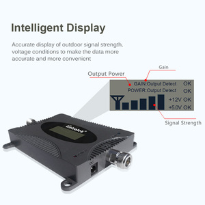 Image 3 - Lintratek מהדר 3G 2100Mhz מגבר אות 3G UMTS מגברי להקה 1 WCDMA אות מהדר 65dB מיני מגבר LCD Disaplay מלא קיט