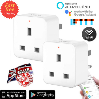 2 PCS Smart Plug WiFi Outlet Smart Home UK Socket Switch Compatible with Amazon Alexa Google Assistant IFTTT Smart Timer Socket 貓 帳篷