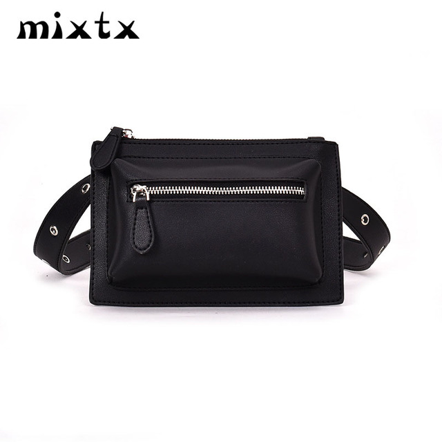 395a70ee866 2018 Hot Sale Waist bag Women fanny pack Rock leg bag PU leather Rivet  Money Female shoulder belt bag Chest pack Hands free bag