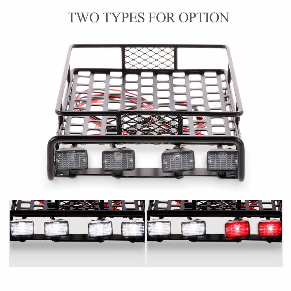 RC автомобиль багажник на крыше Перевозчик квадратная мигалка для Traxxas TRX-4 1:10 RC комплект автомобильных принадлежностей для передней и задней оси SCX10 D90 110 Tamiya HSP части к игрушкам на ру