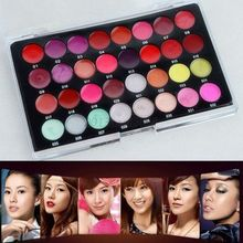 Wholesales New Sexy 32 Colors Lip Gloss Matte Lipsticks Lip Makeup Cosmetic Palette Kit  LI02