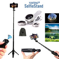 Extendable 40 Inch Monopod Self Tripod Wireless Remote Stick/Clip Lenses Camera Photo Stick Kits For iPhone Android