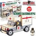 JIE ESTRELLAS 29011 ambulancia Militar 260 unids DIY Conjuntos de Bloques de Construcción de plástico los juguetes Educativos