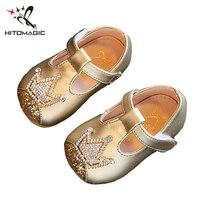 HITOMAGIC Baby Girls Shoes Newborn 2018 Soft Leather Summer Princess Children Girls Fashion Toddler First Walker Party Wedding