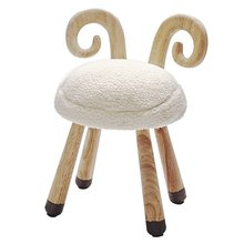 Wooden Plush Cute Small Stool Chair Soft Comfortable Baby Seat Decoration for Children's Room Kindergarten Bedroom beautiful flower and bird design ceramic bedroom furniture seat stool for decoration