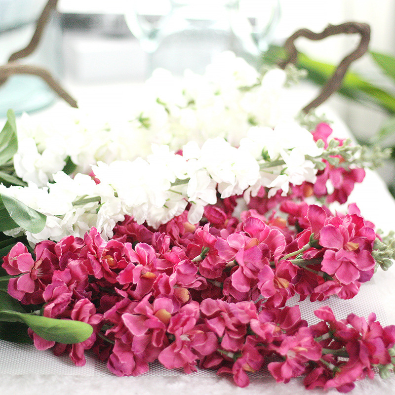 3pcs Delphinium silk flower artificial violet EuropeStyle wedding ...
