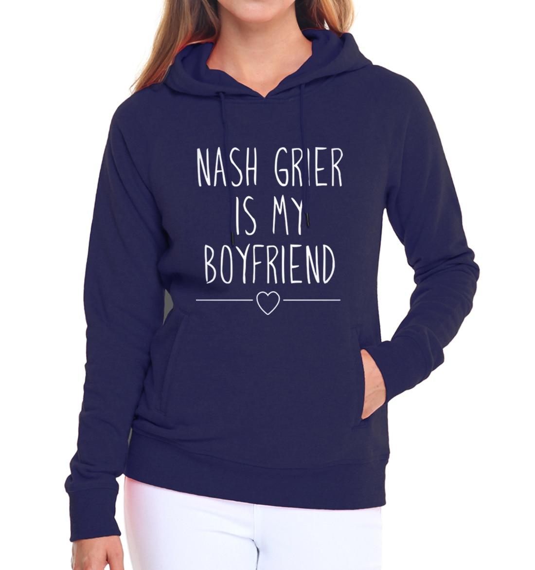 brand pink hoodies kpop hip-hop pullovers Nash Grier is my boyfriend fleece tracksuit women bodybuilding sweatshirts 2019 autumn