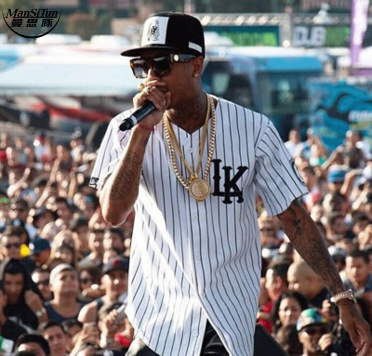 Man si Tun Swag Last kings jerseys White T shirt baseball uniform Men LK tyga jerseys