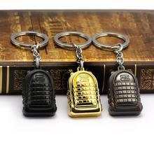 2019 Hot Jedi Survival Game Bag Keychain PUBG Battleground Level 3 Backpack Playerunknown's Holder Metal Keyring недорого