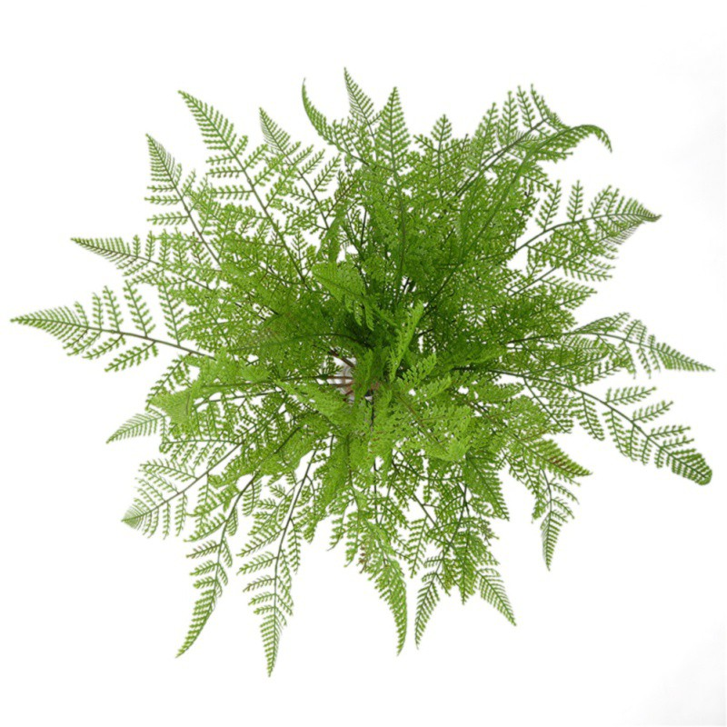 17 Fork Plastic Artificial Tree Fern Persian Grass Green Simulation Plant Home Wall Wedding Table Living Room Decors