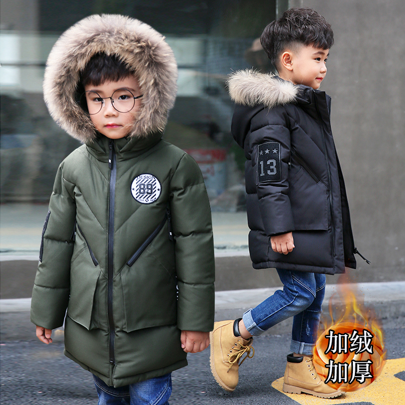 2018 Fashion Boy's winter jacketscoats cotton Russia baby Coats thick Warm jacket Children long Outerwears jackets 2018 new fashion suede lamb wool women coats double breasted warm solid thick long overcoat casual winter cotton jackets female