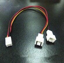 3PIN Процессор вентилятор линия замедления вентилятор Резисторные кабели для настольного компьютера соединитель для удлинителя R0418