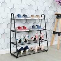 Shoe rack simple home multi layer simple modern economic iron dormitory slippers shelf storage 4 layers shoe rack hallway