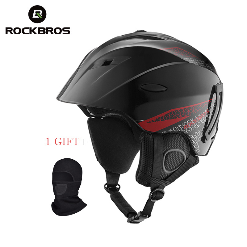 ROCKBROS Integrally-molded Professional Snowboard Helmet Adult Teenager Winter Thermal Ultralight Breathable Cycling Ski Helmets цена