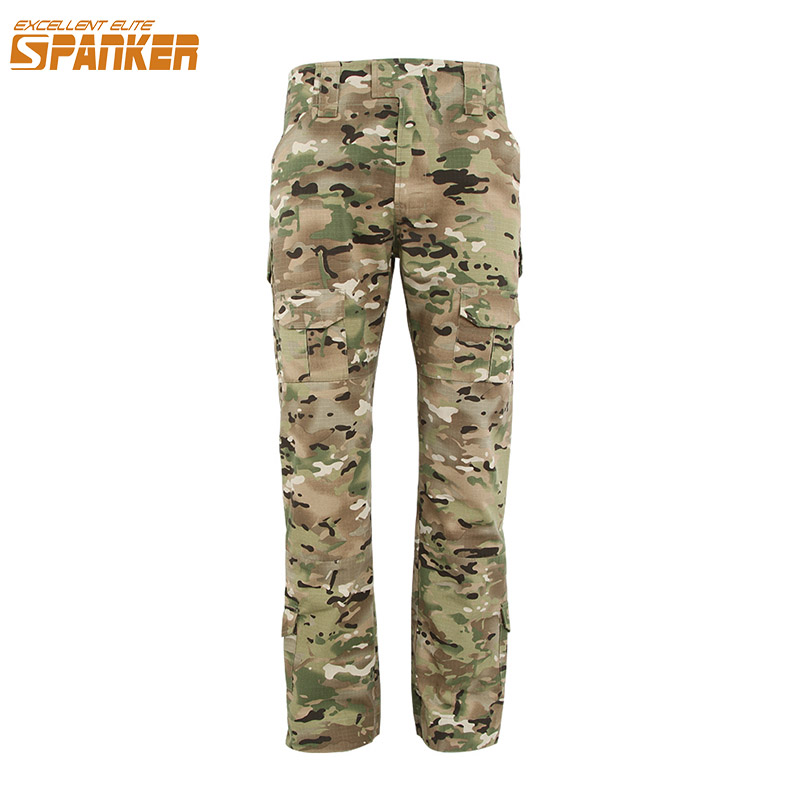 EXCELLENT ELITE SPANKER Outdoor Mens Cargo Pants G3 Tactical Trousers Military Camouflage Multi-Pockets Baggy Men Sport Pants