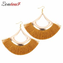 Louleur New Vintage Exaggerated Alloy Dangle Earrings Bohemian Tassel Ladies Fashion Pendant For Women Jewelry