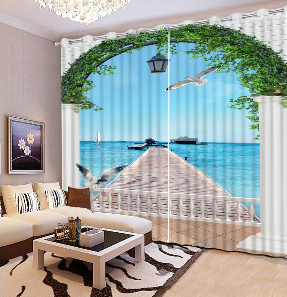 cortinas de encargo europa estilo arqueada puerta cortinas cortinas para la sala de estar d