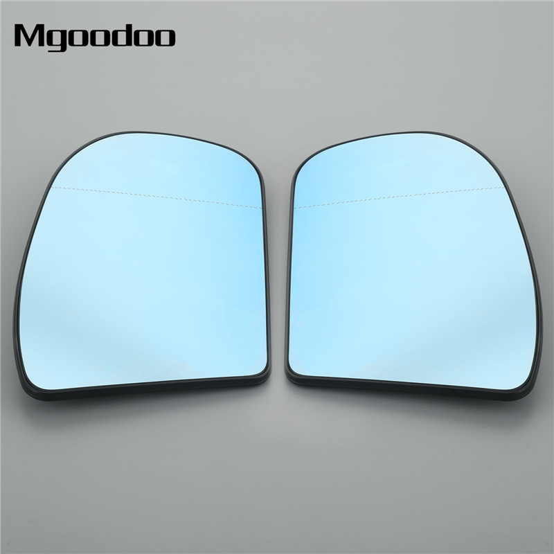 For BMW 3 Series 05-08 Left passenger side Aspheric wing mirror glass with plate