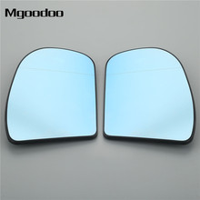 Mgoodoo 1Pair Car Side Rear View Mirror Aspherical Heated Glass 2038101021 2038100121 For Mercedes E C Class W211 W203 Blue