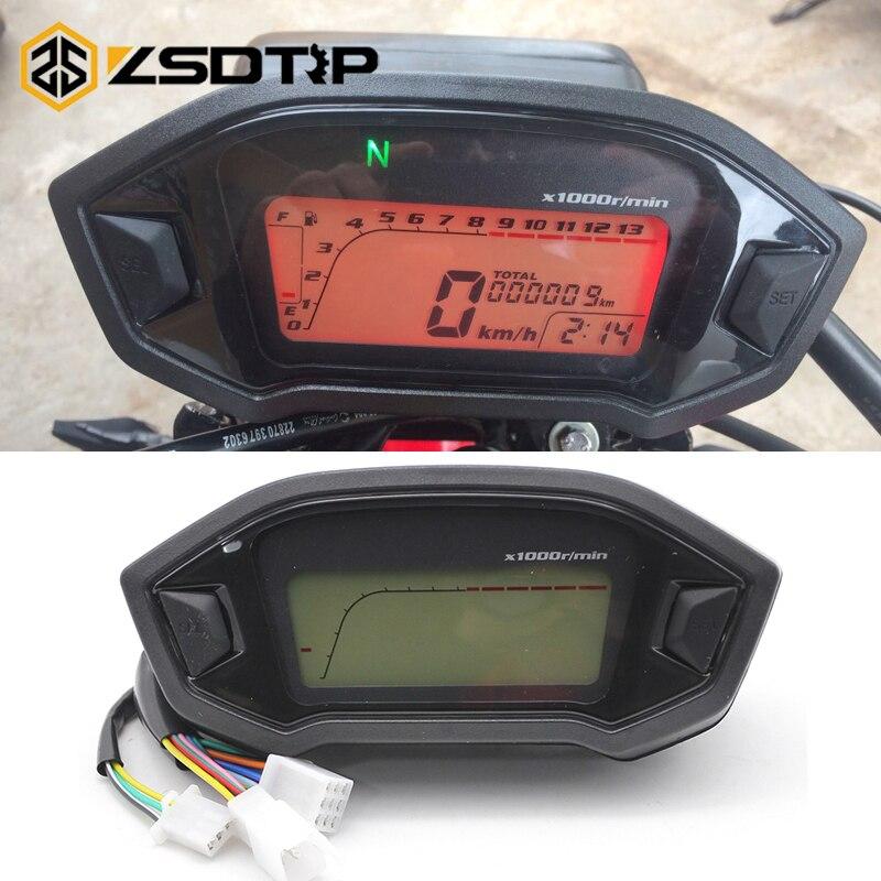 Zsdtrp Universal Motorcycle Lcd Digital Speedometer