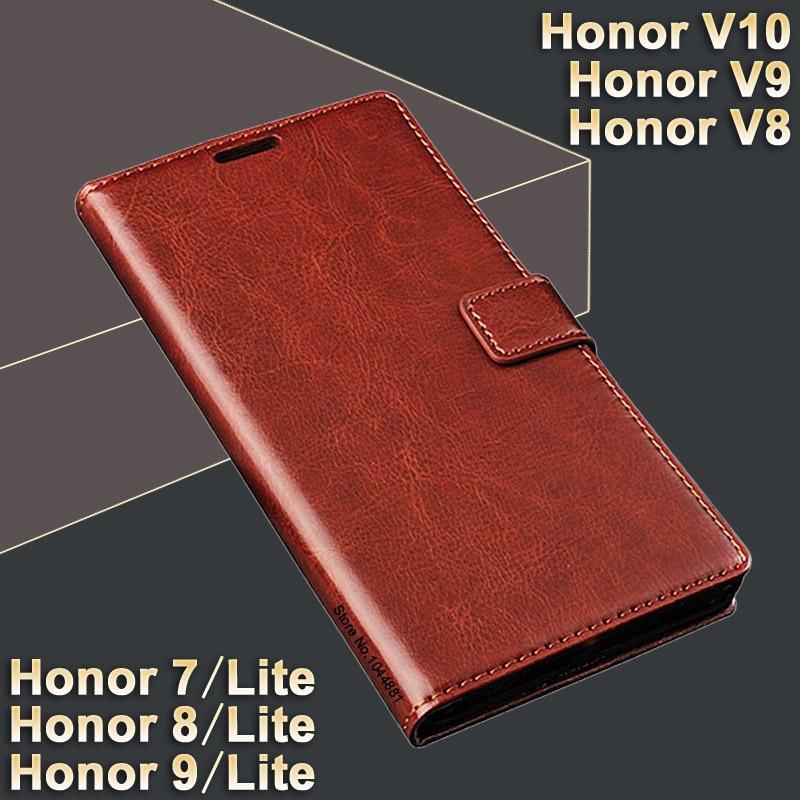 Huawei- ի պատիվ 7 lite գործի շապիկ խելագար ձիու դեպք Huawei- ի պատվին 8 lite cover Case Luxury Honor V10 V9 Huawei պատիվ 9 lite գործ