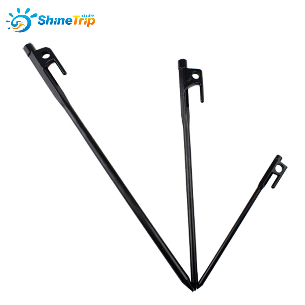 Heavy duty ornament hooks - 121209 40cm Heavy Duty Steel Camping Awning Shelter Canopy Tent Stakes Pegs Hook Nail Tent Nail
