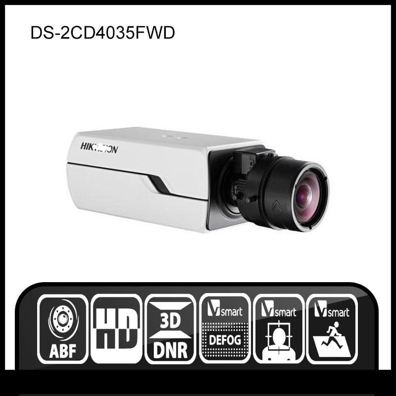 Hikvision  DS-2CD4035FWD 3MP Smart IP Box Camera Auto Back Focus 12V PoE Security Camera smart junior 2 cl cd