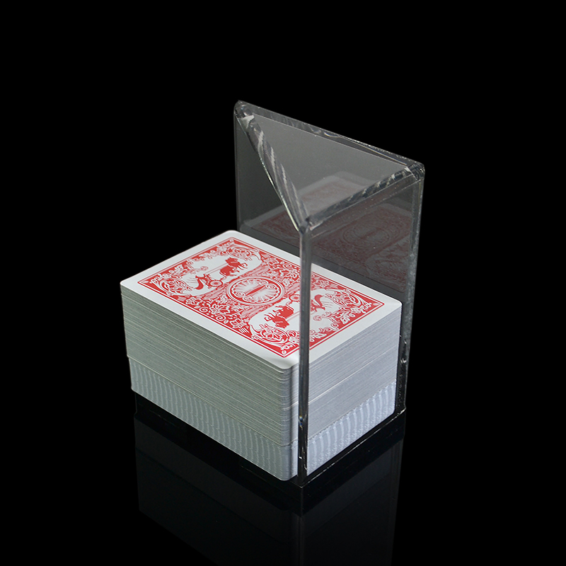 Acrylic Poker Cards <font><b>Holder</b></font> for Texas Hold'em Poker/Blackjack 21 - Can Hold <font><b>6</b></font>/8 <font><b>Decks</b></font> - <font><b>Discard</b></font> box
