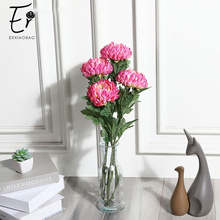 Erxiaobao High Quality China Aster Callistephus Chinese Chrysanthemum Artificial Flowers Plants for Wedding Home Decoration