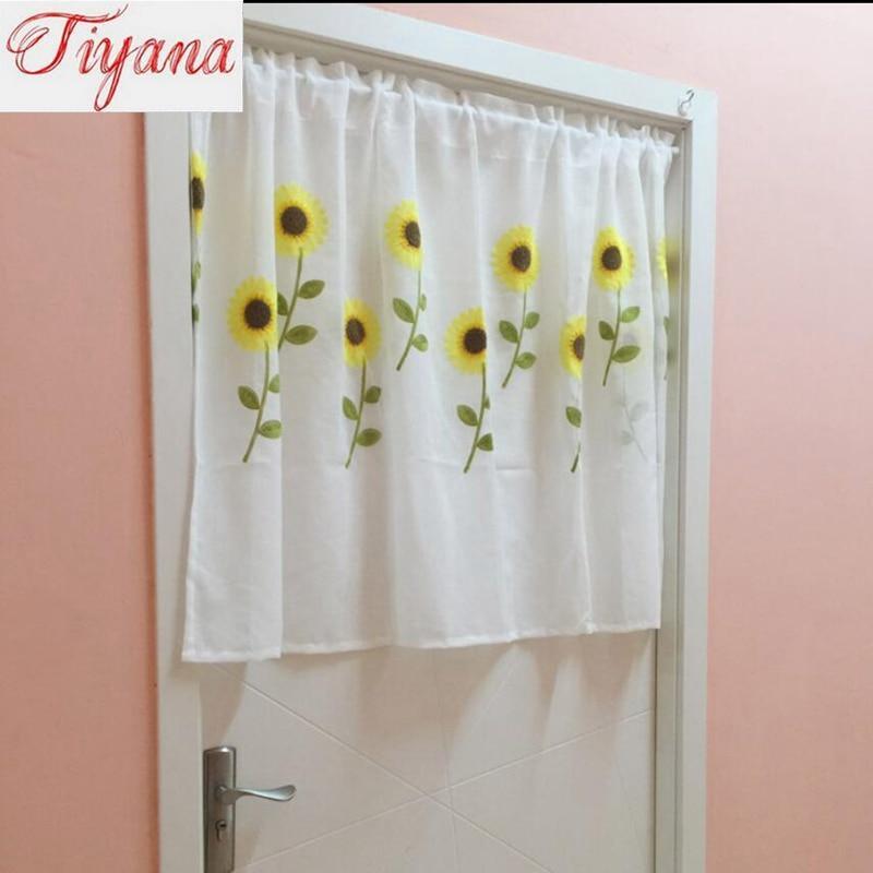 Aliexpress Com Buy Children Room Divider Kitchen Door Curtains Pastoral Floral Window: Compare Prices On Sunflower Kitchen Curtains- Online