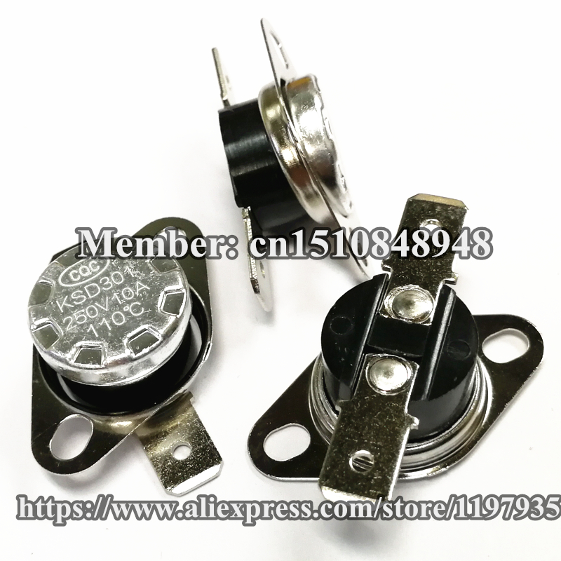 KSD301 Thermostat temperature switch 110 degrees  250V 10A