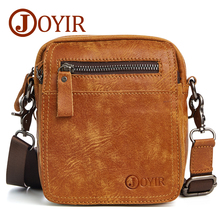 JOYIR Designer Small Messenger Bag Luxury Genuine Leather Men Bag Male Vintage Flap Shoulder Crossbody Bags Men Phone Bag