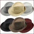 Unisex Fedora del sombrero flexible Cap Hombres Mujeres Summer Beach Sun Paja Sombrero Panamá Moda Retro Vintage Jazz Dance Sombrero F1