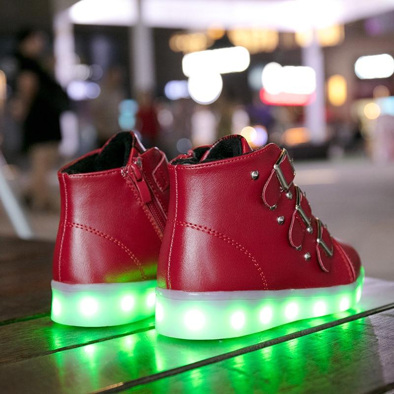 Ładowania USB Trampki Luminous led buty chłopiec buty na - Obuwie dziecięce - Zdjęcie 4