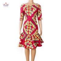 מחיר זול ריש Bazin שמלת הקיץ לנשים האופנה אפריקה סגנון עטוף שמלה לילדה WY1027 רק גודל אחד