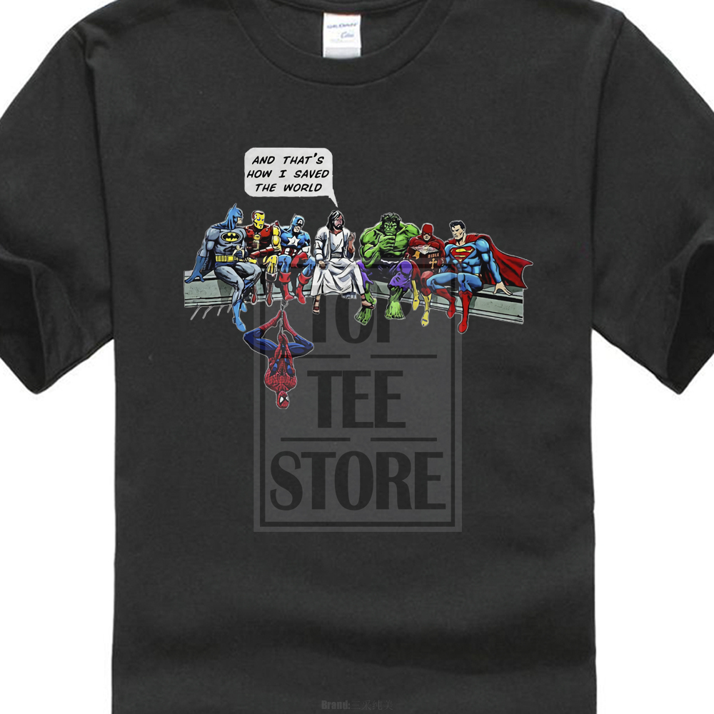 Und Deshalb Wie Ich Gespeichert Die Welt T-shirt Jesus Und Superhelden Christian Neue