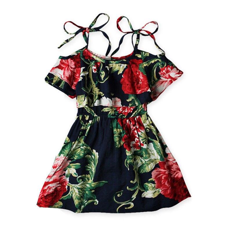 Baby Girls Dress 2017 New Sweet Off Shoulder Flower Girls Princess Dress Kids Party Pageant Floral Wedding Evening Dresses sweet off the shoulder floral dress for women