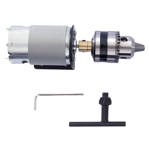 Image 3 - DC 12V Lathe Press 555 Motor With Miniature Hand Drill Chuck and Mounting Bracket 555 DC Brush Motor 18000Rpm For DIY Assembly