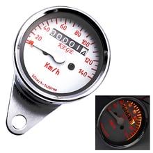Universal Motorcycle Speedometer LED Backlit Motorbike Odometer Gauge Instruments with Indicator Waterproof