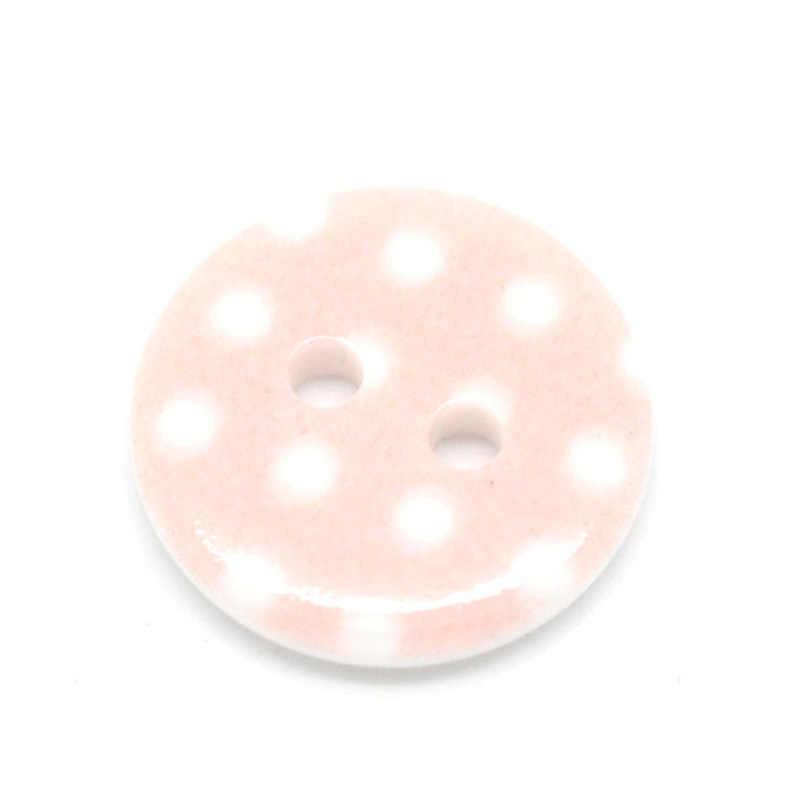 50 adet 2 Delik Reçine Pembe Nokta dikiş düğmeleri Çocuklar Için Scrapbooking Dekoratif Botones El Sanatları DIY Dikiş Aksesuarları